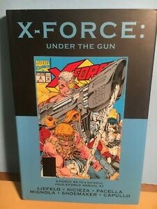 """X-FORCE #5-15 + Annual 1"""" Under The GUN"""" Hardcover Book-VOLUME 61 Marvel Classic"""