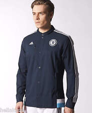 Adidas CHELSEA ANTHEM JACKET Football Soccer Sweat Shirt Track Jersey~Men sz Lrg
