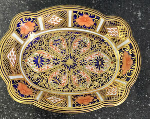 royal crown derby 1128 Old Imari Shaped Bowl  1st Quality