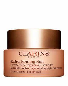 CLARINS Extra-Firming Night Rich Cream for Dry Skin, 50ml/1.6oz, NIB, Sealed TST