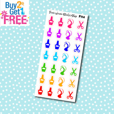 F114 - Beauty Nail Hair Icon Planner Stickers for Erin CondrenHappy Planner