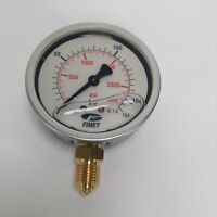 Fimet Gauge manometer 0 - 160 bar 0 - 2300 psi NEW NMP
