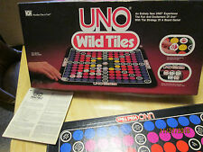 Vintage 1983 Uno Wild Tiles -Uno Excitement, Board Game Strategy- Complete