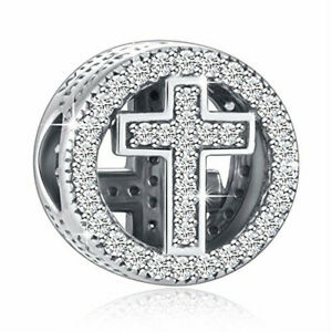 Diy1Pcs Silver European Cz Charm Crystal Spacer Beads Fit Necklace Bracelet Jd02