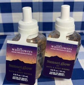 Bath & Body Works RETIRED Wallflower Fragrance: Sunset Glow-Set Of Two