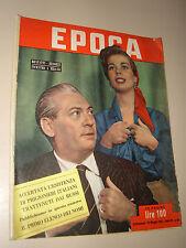 EPOCA=1952/86=LILIANA BONFATTI NINO BESOZZI=JOHN MARUS HAROLD STEVENS=ALECCE P.