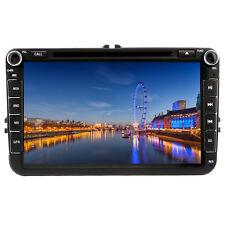 "8"" Car DVD Stereo GPS Sat Nav RDS Bluetooth VW Golf MK5 MK6 Jetta Passat Polo UK"