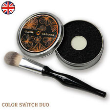 Color Cleaner Sponge Tool - Duo Dry & Wet Removes Eye Shadow Makeup From Brush