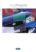 Ford Fiesta Farben Polster Prospekt 1999 II/99 8/99 Autoprospekt brochure colour