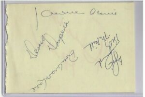 JACQUES PLANTE MULTI SIGNED 1971-72 TORONTO MAPLE LEAFS NHL AUTOGRAPH PAGE D1986
