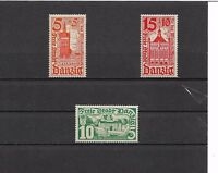 Danzig, Gdansk 1935 Michelnummern: 256 - 258 **, postfrisch **, Katalogwert € 22