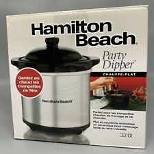 NEW HAMILTON BEACH PARTY DIPPER FOOD WARMER  GREAT TO WARM CHEESE/CHOCOLATE DIPS