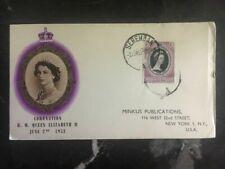 1953 Seremban Malaya First Day Cover QE II Queen Elizabeth coronation FDC