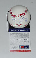 PATTI MCGUIRE AUTO'D SIGNED BASEBALL PSA/DNA COA 1977 PLAYMATE OF THE YEAR NOV A