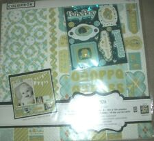 Baby Boy Paper Letter Die-Cuts Stickers Colorbok Scrapbook Page Kit 12 x 12