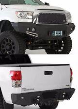 Smittybilt Front & Rear D-Ring Bumper Set w/ Light Kits 2007-2011 Toyota Tundra