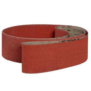 """VSM 291498 Abrasive Belt Coarse Grade Cloth Backing Ceramic 36 Grit 4"""" Width ..."""