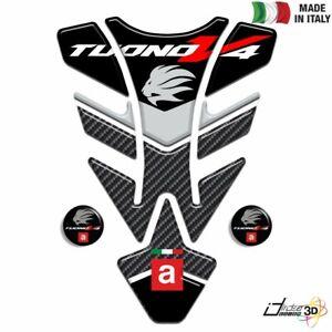 Sticker Tank Resin 3D Black Red For Tuono V4 Factory 1100 2015-2016