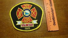 VINTAGE NEW MINAS VOLUNTEER FIRE DEPART CANADA  FIRE FIGHTER PATCH BX 13 #1