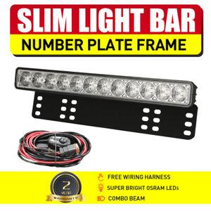 """LED Light Bar 15"""" OSRAM Slim Single Row Number Plate Frame Spot Flood Combo Beam"""