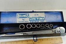 """Vintage Billings & Spencer Co. 1/2"""" Drive Socket Set"""