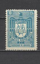 0107-SELLO FISCAL ESPAÑA 1940 ETAPA FRANQUISTA JUSTICIA MUNICIPAL 10 CT NUEVO **