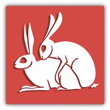 "Breeding Season Rabbit Sex Car Bumper Sticker Decal 5"" x 5"""
