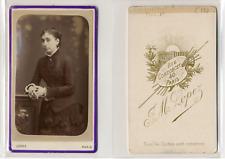 Lopez, Paris, portrait de femme CDV vintage albumen  Tirage albuminé  6,5x10