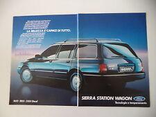 advertising Pubblicità 1985 FORD SIERRA SW STATION WAGON 1.6 GL