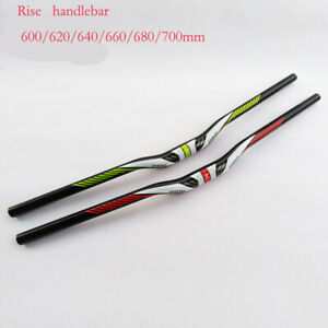 3K Full Carbon Fiber Handlebar Riser Bar Mountain Bike Handlebars 31.8*600-700mm