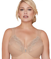 Bramour Nude Brooklyn Front-Close Bra, Size US 42C NWOT