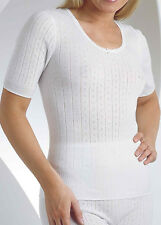 VEDONIS/SLENDERELLA VUW702 SHORT SLEEVE THERMAL CAMI (SHORT VEST) IN CREAM