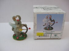 MIB/NEW Cupid I'M YOUR LOVE BUNNY Charming Tails Mouse FITZ & FLOYD Figurine