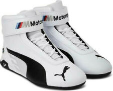 NEW PUMA BMW MOTORSPORT MEN'S WHITE BLACK SHOES ATHLETIC LEATHER SNEAKERS USA 12