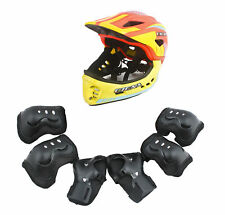 CIGNA Kids Bicycle Bike Convertible Helmet Orange S-size w/Black protective pads