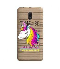 Case Lenny 5 Licorne Striped Unicorn Arc Sky Rainbow Star Transparent