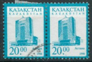 Kazakhstan 1998 Astana 20t pair SG 213 used *COMBINED POSTAGE*