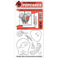 Elephant POPCARDS Clear Unmounted Rubber Stamp Die Set ART IMPRESSIONS 4856 New