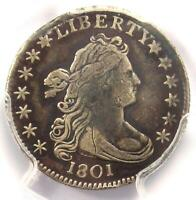 1801 Draped Bust Dime 10C - Certified PCGS VF Details - Rare Date Coin!