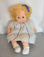 "Madame Alexander Vintage1965 PUSSYCAT 15"" new crier pretty blue flowered dress"