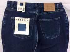 NWT Sonoma Kohls Womens Size 6 Long Classic Jeans  relaxed fit tapered leg dark