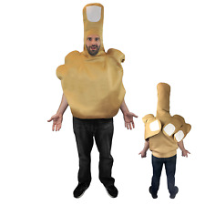The Middle Finger Halloween Costume Funny Comedy Adult Humor Hand Gag Fun
