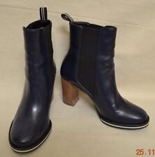 Stella McCartney Felix Navy Faux Leather Short Boots Sz 37.5 US Siz 7