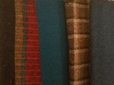 Felted Wool Bundle (Qty 5) 6 x 26 in Plaid & Solid Colors pkg #A45