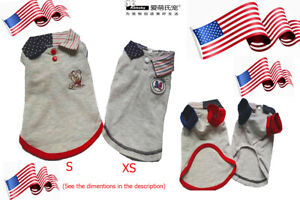 Ambaby American Polo Shirts Puppy T-Shirt Pet Clothes Apparel XS-S Dog Clothing