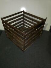 Antique Wooden Egg Crate w Handles vintage primitive americana farm home barn