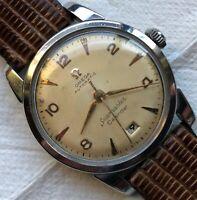 Omega Seamaster Calendar Automatic Bumper mens wristwatch steel case