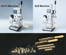 Pro Hot Foil Stamping Machine custom logo seal embossing  Alphabet leather tools