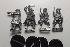 Quattro 28 mm 32 mm i pirati. Scorpione Nero Metal Miniatures.
