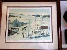 """Will Moses Framed """"Oak Hill Farm"""" Signed Lithograph 330 out 0f 500 COA"""